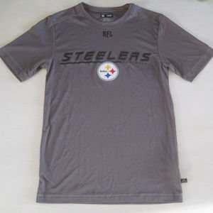 Womens Steelers Tee Shirt Small NFL Gray Athletic